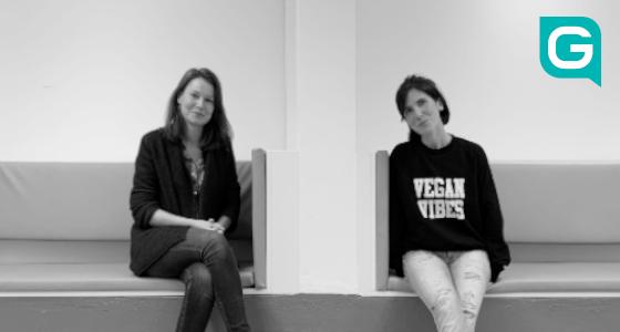 Anna und Morgane nach dem Interview